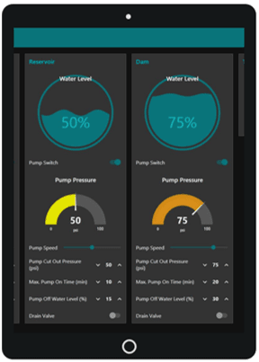Web Dashboard on Smart Device Tablet